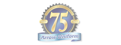Arrow Uniform 75 Year Anniversary Logo