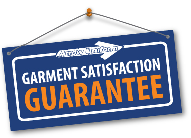 Arrow Uniform Garment Satisfaction Guarantee